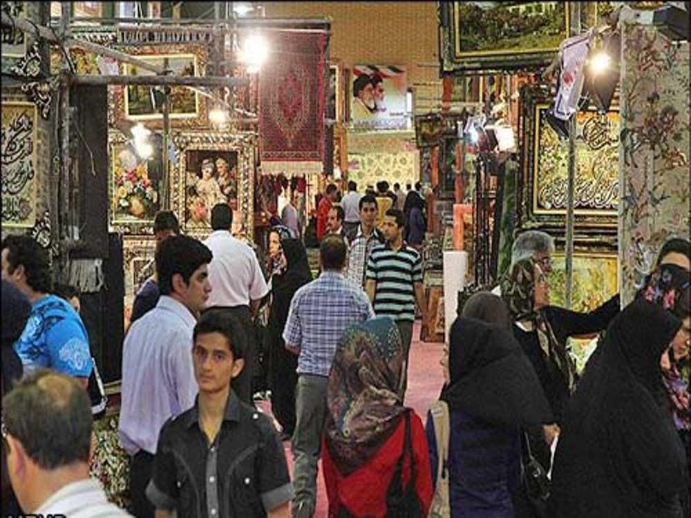عکس استقبال مردمی از نهمین نمایشگاه فرش اردبیل