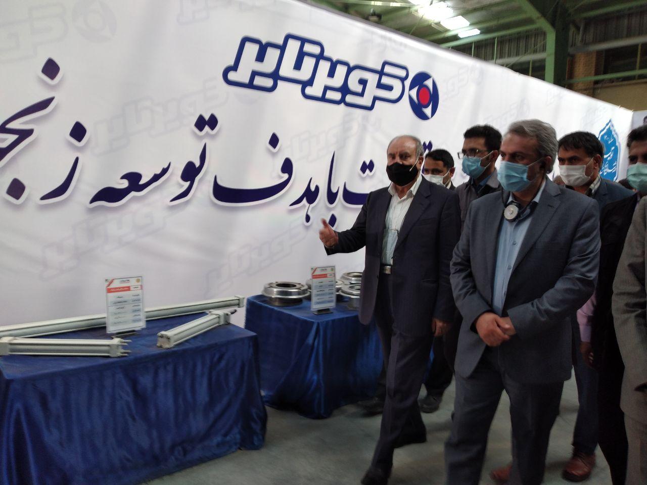 بازدید وزیر صنعت، معدن و تجارت از کارخانه کویر تایر بیرجند