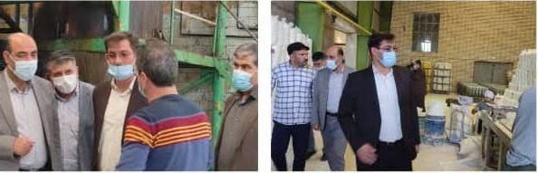بازدید میدانی دکترصادقی و رحیمی آذر ,واحد های تولید کالاهای اساسی درمرکز استان