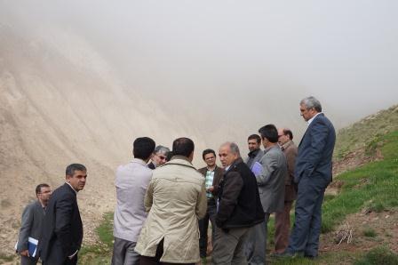 بازدید ازمحدوده معدن سیلیس مورد نظر شرکت آذر ساروج سبلان
